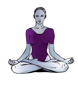 Концентрация и медитация. Поза Лотос